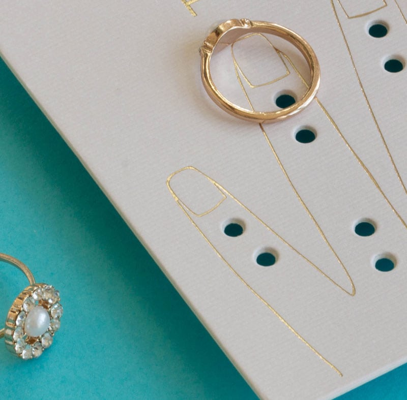 We create custom jewellery display cards for Primark